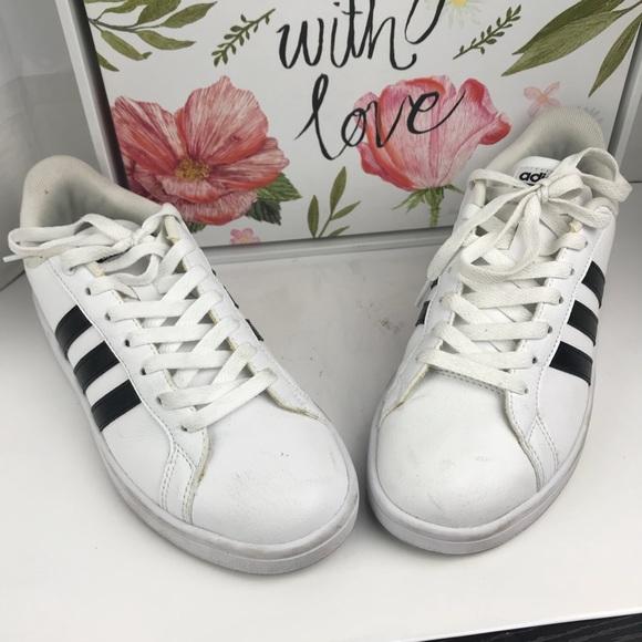 Adidas zapatos blanco y negro zapatillas tamaño 75 poshmark